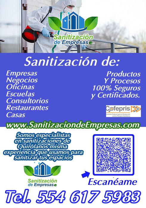 sanitizacion de negocios en ciudad satelite